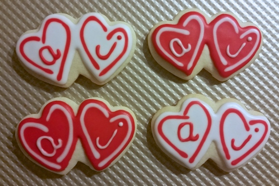 Andrea/Justin Heart Cookies