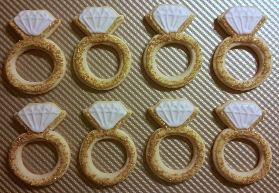 Gold Diamond Ring Cookies