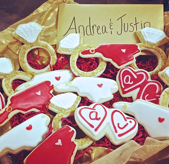 Andrea & Justin's Engagement Basket
