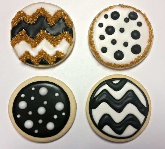 Chevron & Polka Dot Cookies